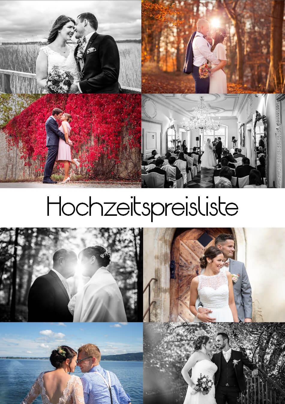 Hochzeitspreiliste